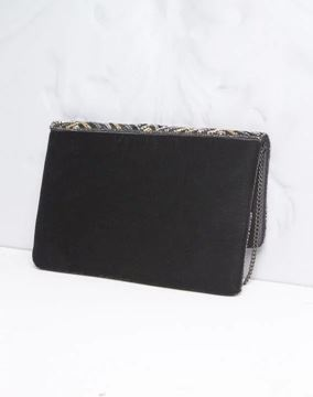 Picture of IDÉAL SEQUINNED BLACK CLUTCH BAG