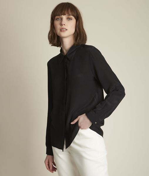Picture of MAELLE BLACK SILK SHIRT