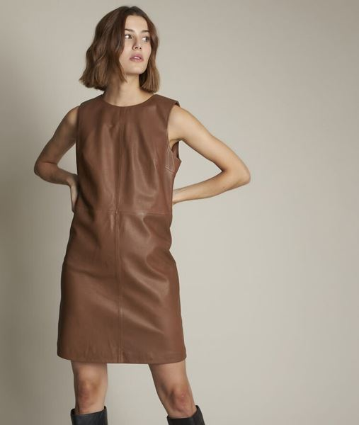 Picture of IZZIE LEATHER DRESS