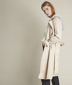 Picture of FLORIENNE LONG HOODED BEIGE TRENCH COAT