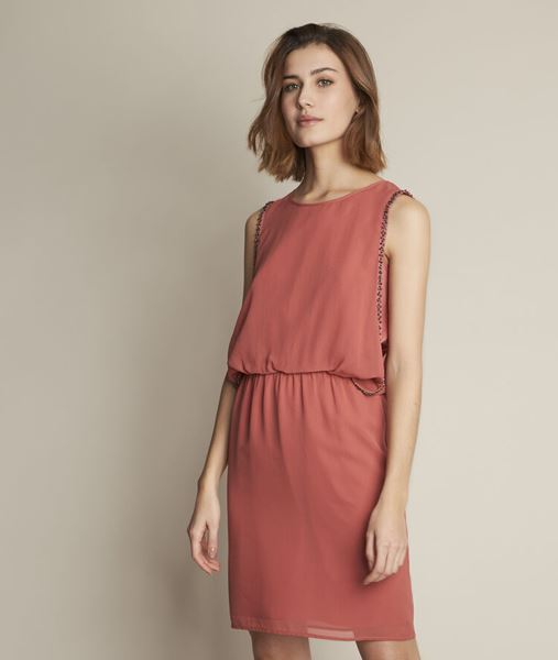 Picture of ODE PINK SILK DRESS