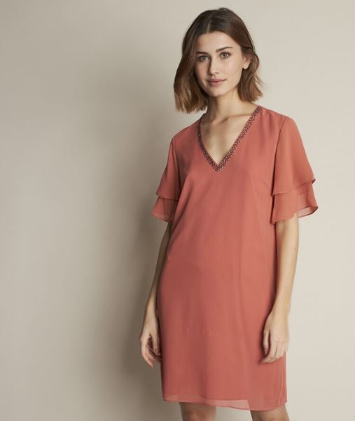 Picture of ASTRID PINK SILK DRESS