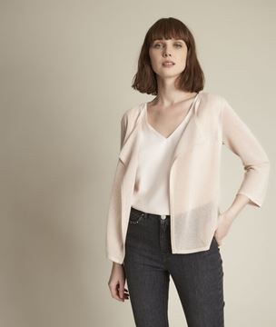 Picture of NOISETTE NUDE OPENWORK CARDIGAN