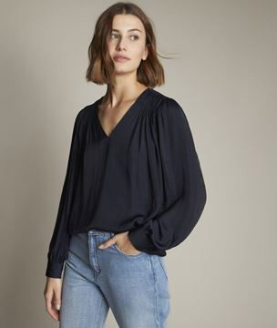 Picture of ELVERA FLOATY NAVY BLUE BLOUSE