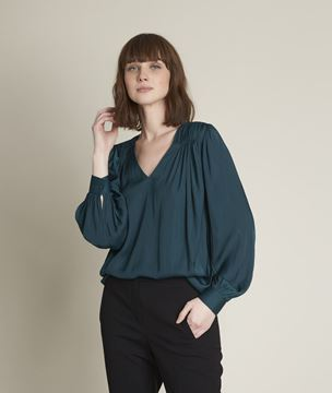 Picture of ELVERA FLOATY CYPRESS BLOUSE