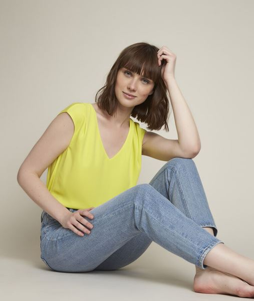 Picture of NEPTUNE LEMON TWO-FABRIC TOP