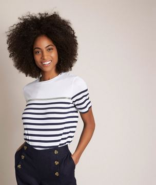 Picture of RAPHAEL NAVY STRIPED T-SHIRT