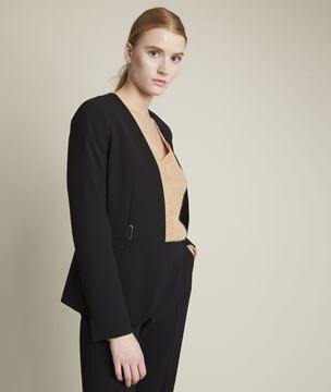 Picture of BEATRICE BLACK MICROFIBRE JACKET