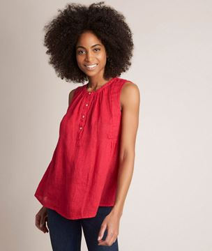 Picture of ELOANE RED LINEN TOP