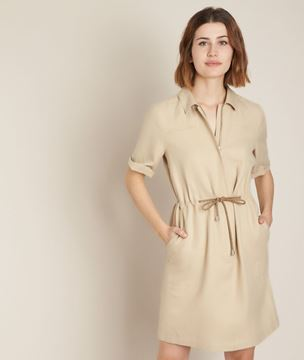 Picture of CAMILLA BELTED LINEN DRESS