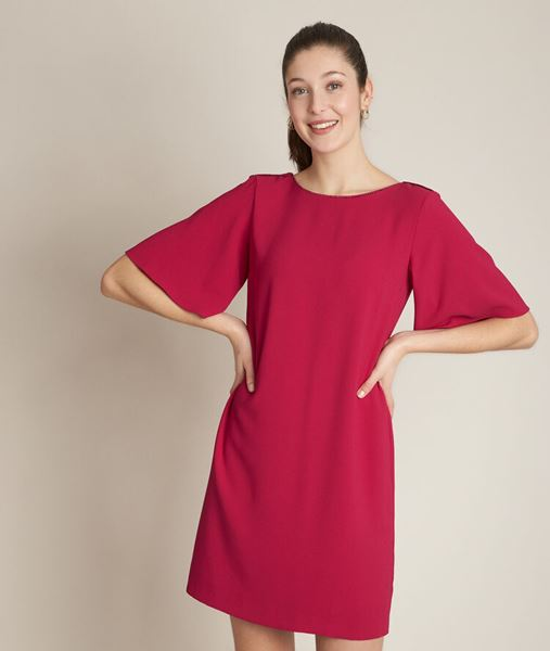 Picture of CELIA SCARLET STRAIGHT FIT DRESS