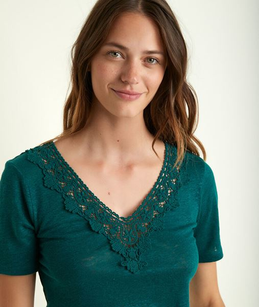 Picture of ROXANE CYPRESS LINEN TOP