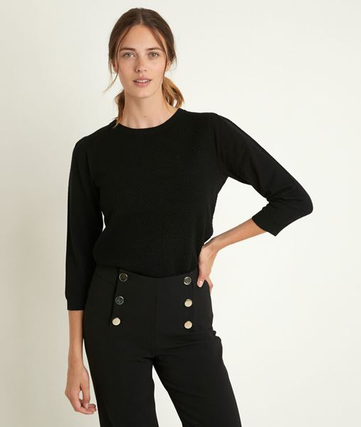 Picture of RIMEL BLACK HONEYCOMB PULLOVER