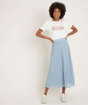 Picture of GRETA SKY BLUE PLEATED SKIRT