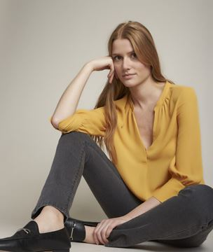 Picture of ELISEE FLOWING YELLOW BLOUSE