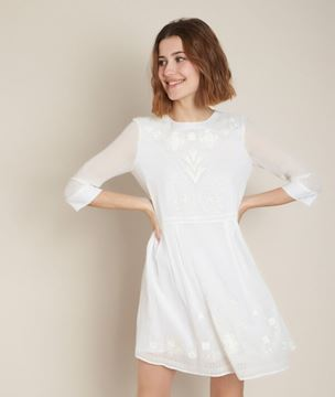 Picture of CELINA EMBROIDERED DRESS