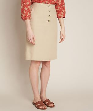 Picture of BLANCHE A-LINE LINEN SKIRT