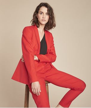 Picture of BIANCA RED JACKET WITH TAILORED COLLAR