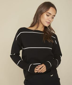 Picture of FACE STRIPED BLACK JUMPER