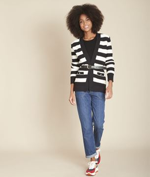 Picture of FAKIR STRIPED WRAP CARDIGAN