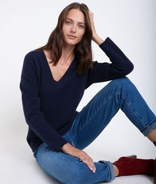 Picture of RALPH NAVY CASHMERE PULLOVER