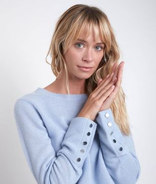 Picture of RIVER BLUE CASHMERE PULLOVER