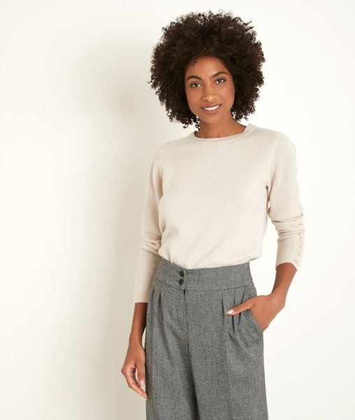 Picture of RIVER POWDER CASHMERE PULLOVER