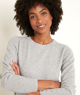 Picture of RIVER GREY CASHMERE PULLOVER