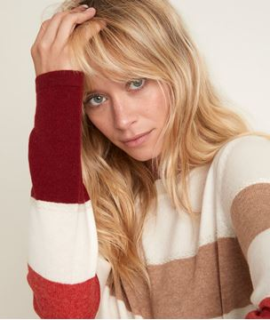 Picture of RAY GUAVA STRIPED PULLOVER