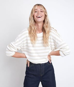 Picture of DOMINO LUREX STRIPED TOP