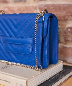 Picture of MINI 123 KLEIN BLUE QUILTED BAG