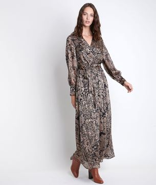 Picture of CATHEL LONG PRINTED DRESS