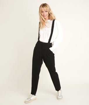 Picture of PERROQUET MICROFIBRE TROUSERS WITH BRACES