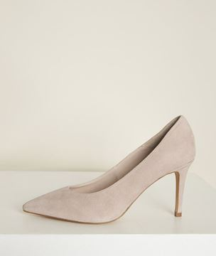 Picture of KELLY NUDE SUEDE HIGH HEELS