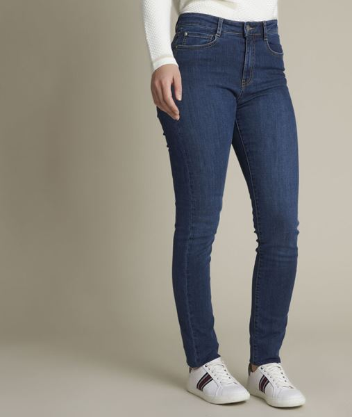 Picture of SUZY, THE ICONIC SLIM-FIT STONE USED JEANS