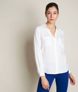 Picture of EVOLIE WHITE LINEN SHIRT