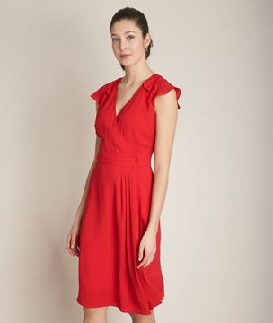 Picture of CONSTANCE CREPE WRAP DRESS