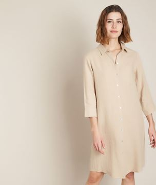 Picture of CÉLINE LINEN SHIRT DRESS