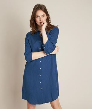 Picture of CELINE LINEN SHIRT DRESS