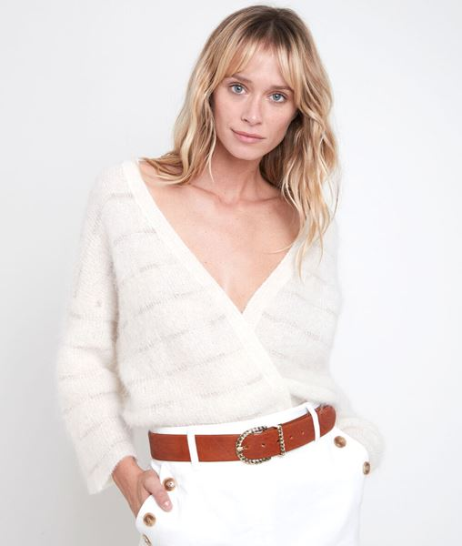 Picture of RIVA STRIPED MOHAIR BLEND CARDIGAN