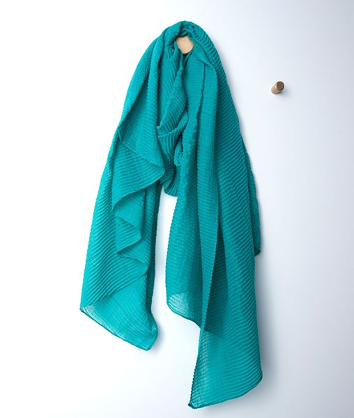 Picture of BARRY JADE PLEATED SCARF