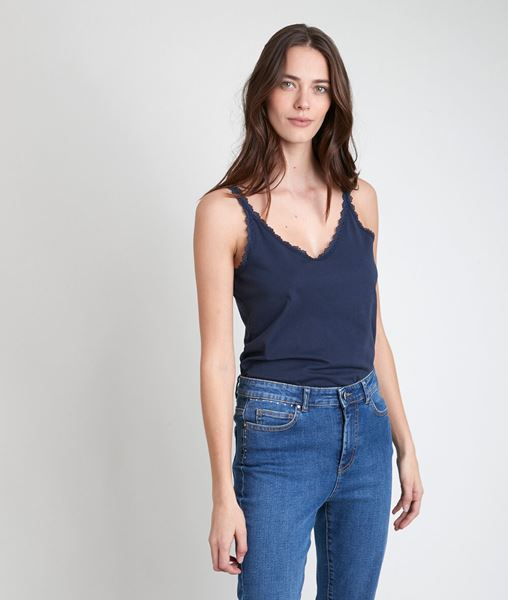 Picture of ROSA NAVY COTTON TANK TOP