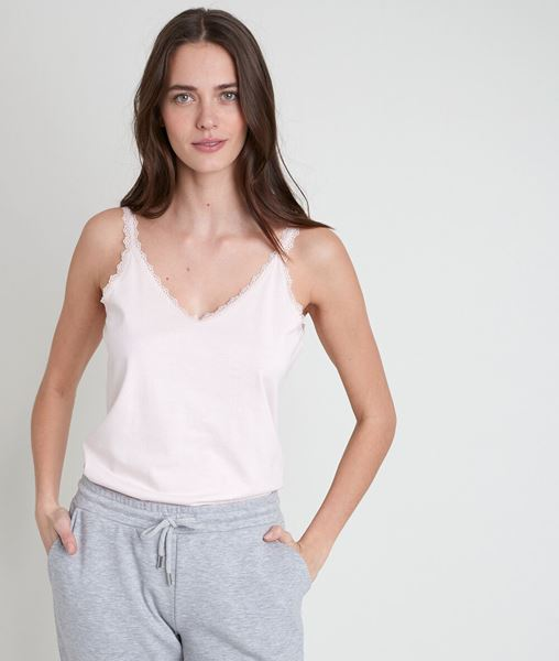 Picture of ROSA POWDER COTTON TANK TOP