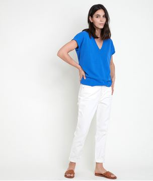 Picture of ALINE OPENWORK VISCOSE ECOVERO® FORGET-ME-NOT JUMPER