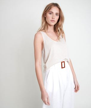 Picture of ALIZEE POWDER-COLOURED KNITTED VEST TOP