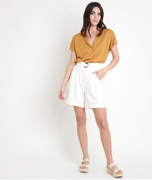 Picture of ILARIA YELLOW LINEN TOP