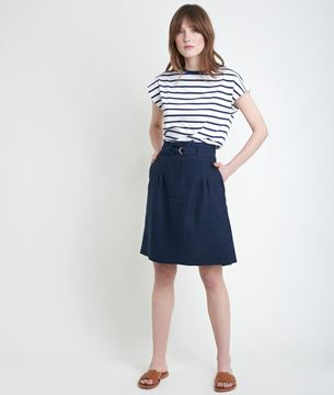 Picture of ELISA BLUE CERTIFIED LINEN SKIRT
