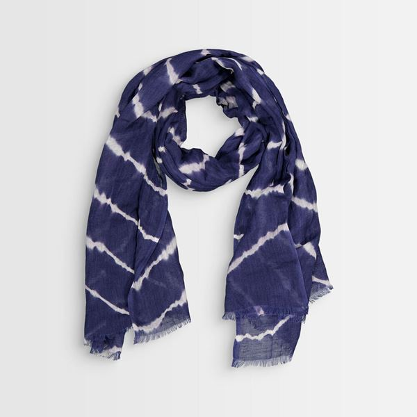 Picture of BLAKE TIE-DYE NAVY BLUE SCARF
