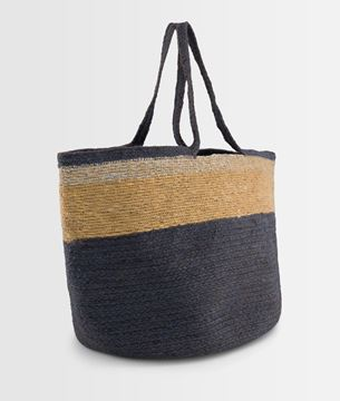 Picture of DAVE FORGET-ME-NOT STRIPED JUTE BASKET