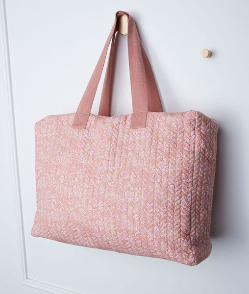 Picture of PINK COTTON DARYL TOTE BAG WITH PRINT